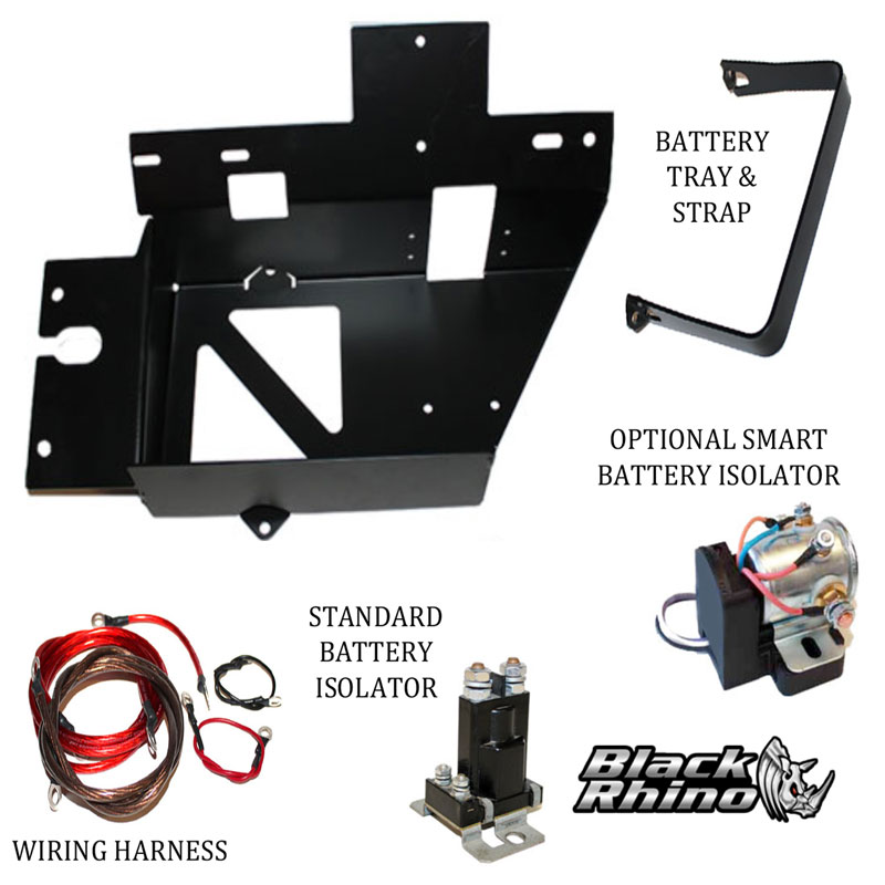 black rhino auxiliary battery kit for yamaha rhino 2005 and up