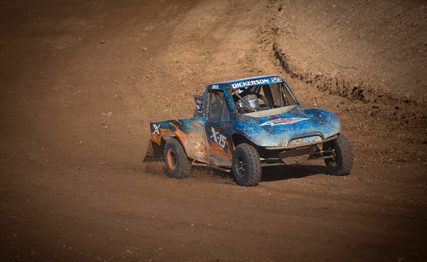 Broc Dickerson Podiums in the #523 Modified Kart at LOORRS Las Vegas