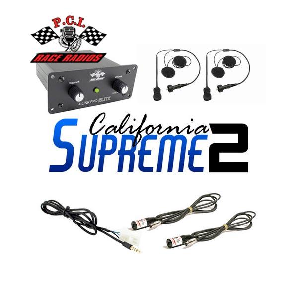 PCI Race Radios California Supreme 2 Seat Intercom Package