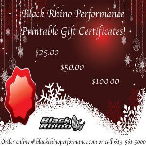 Black rhino gift certificate