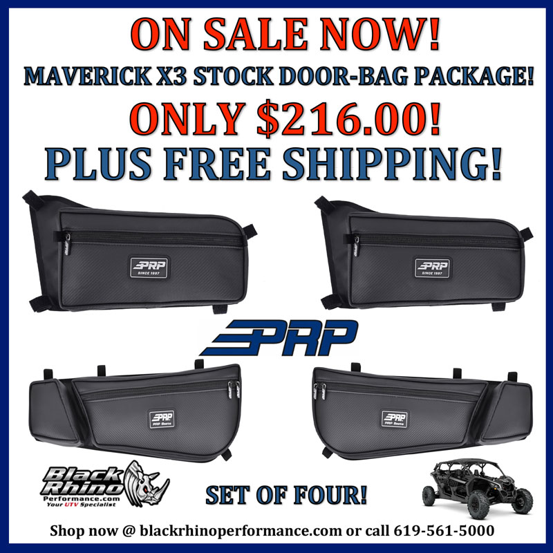 sc 1 st  Black Rhino Performance & PRP Can-Am Maverick X3 Stock Door-bags Package Set Of Four